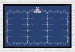Full Grid Frame on dark blue - Epic Storybook Princesses