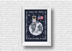 Neil Armstrong quote cross stitch pattern by Cloudsfactory