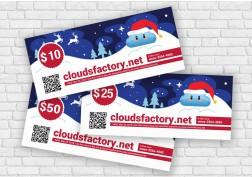 Cloudsfactory X-Mas Gift Card