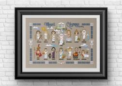 Greek gods cross stitch pattern
