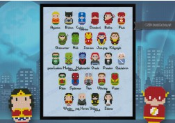 Superheroes alphabet sampler