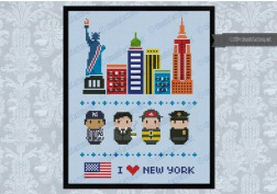 New York icons (big version) – Mini people around the world
