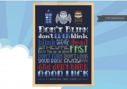 Doctor Who don't blink cross stitch