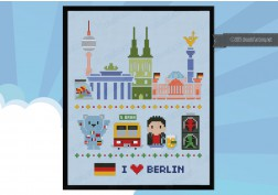 Berlin icons (big version) - Mini people around the world