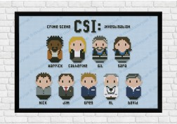 csi cross stitch pattern