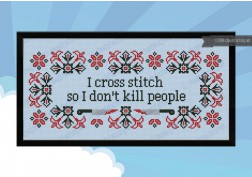 I cross stitch quote