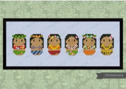 Cute Little Hula Dancers