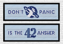 Hitchhiker's Guide towel cross stitch pattern