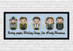 Supernatural cross stitch pattern