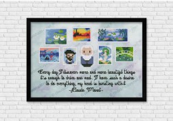 Claude Monet cross stitch pattern