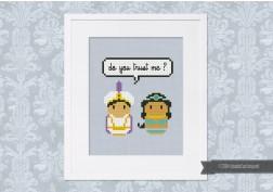 Aladdin and Jasmine - Mini People in Love