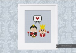 Alice in Wonderland - Queen and King of Hearts - Mini People in Love