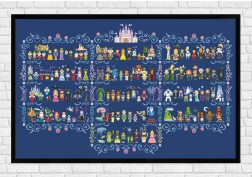 Full Pattern - Epic Storybook Princesses