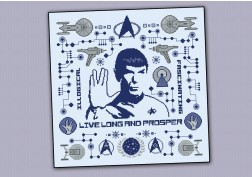 Star Trek pillow sampler - Spock
