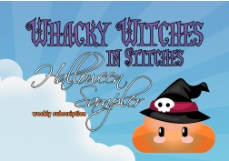 Whacky Witches in Stitches Halloween sampler