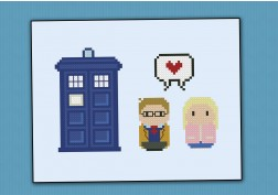 10th doctor and Rose Tyler - Doctor Who - Mini People in Love