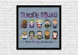 Suicide Squad cross stitch pattern