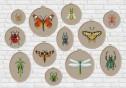 Bugs pillow cross stitch pattern