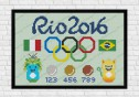 Rio 2016 cross stitch