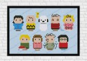 Peanuts cross stitch pattern