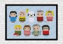 Peanuts cross stitch pattern