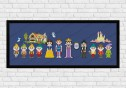 Snow White on dark blue fabric - Epic Storybook Princesses