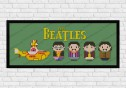 the Beatles yellow submarine cross stitch pattern