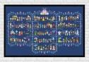Full Pattern in Columns on dark blue fabric - Epic Storybook Princesses