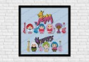 Jem and the Holograms and Misfits cross stitch pattern