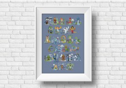Legendary Creatures Alphabet - Pattern and Kit