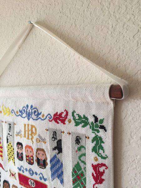 Harry Potter cross stitch scroll frame